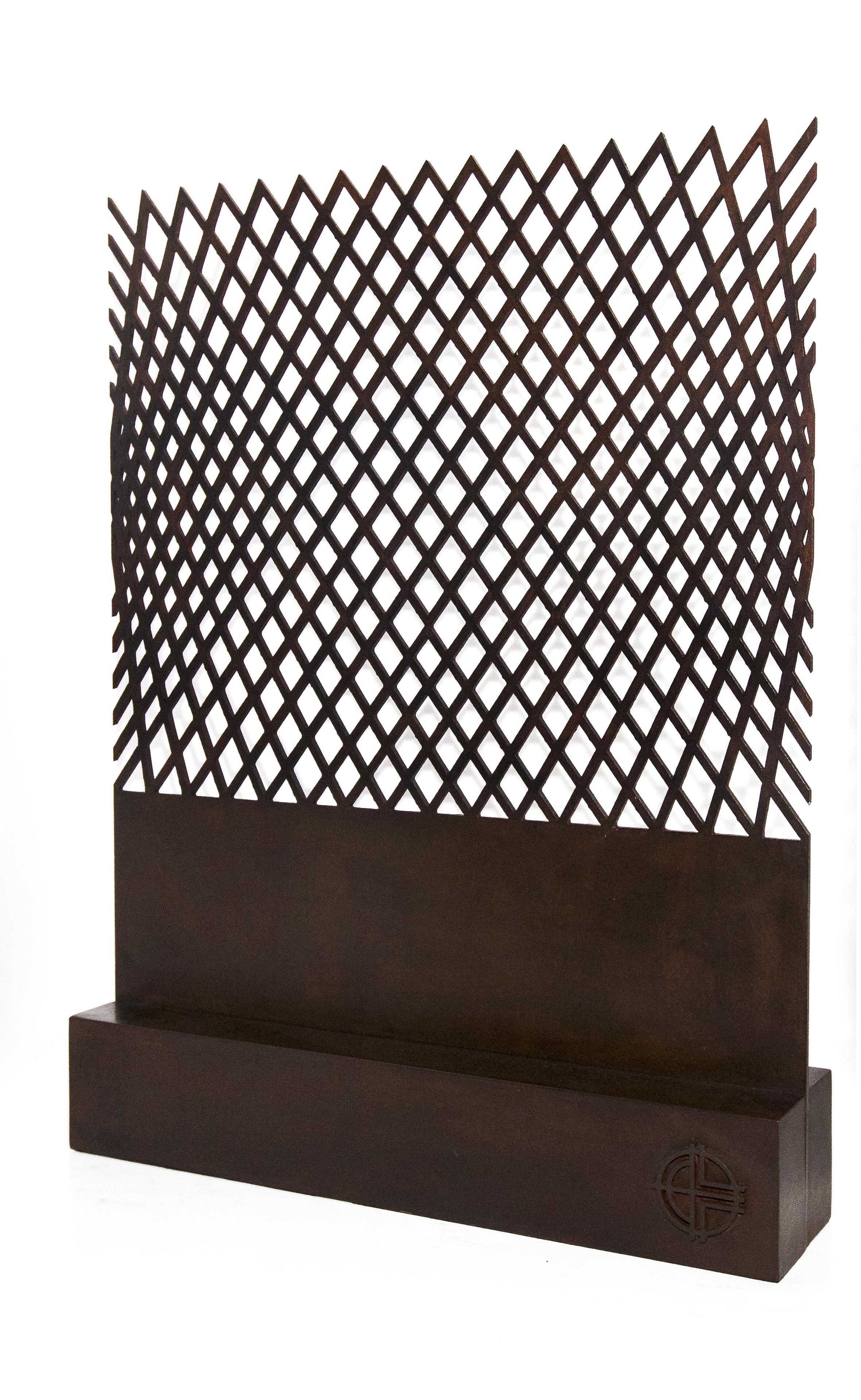 Javier Lledó. Las olas de Sirio- Sirio's Waves. 80 x 47 x 17 cm.-Acero corten Corten steel. Ángulo.